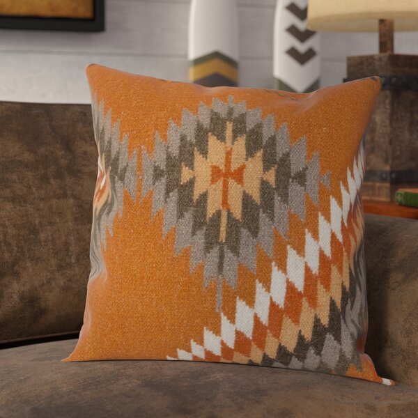 Westall 100% Wool Throw Pillow Cover by Loon Peak